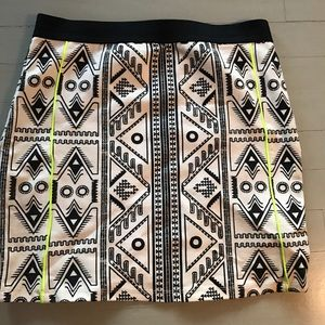 Zara geometric tribal pattern skirt